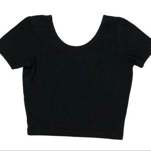 American apparel black crop top medium